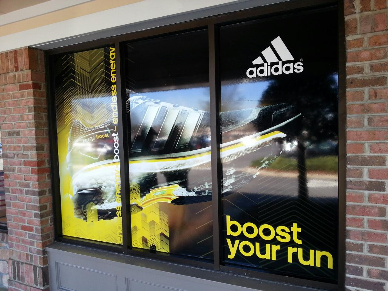 adidas business window vinyls exterior graphics example