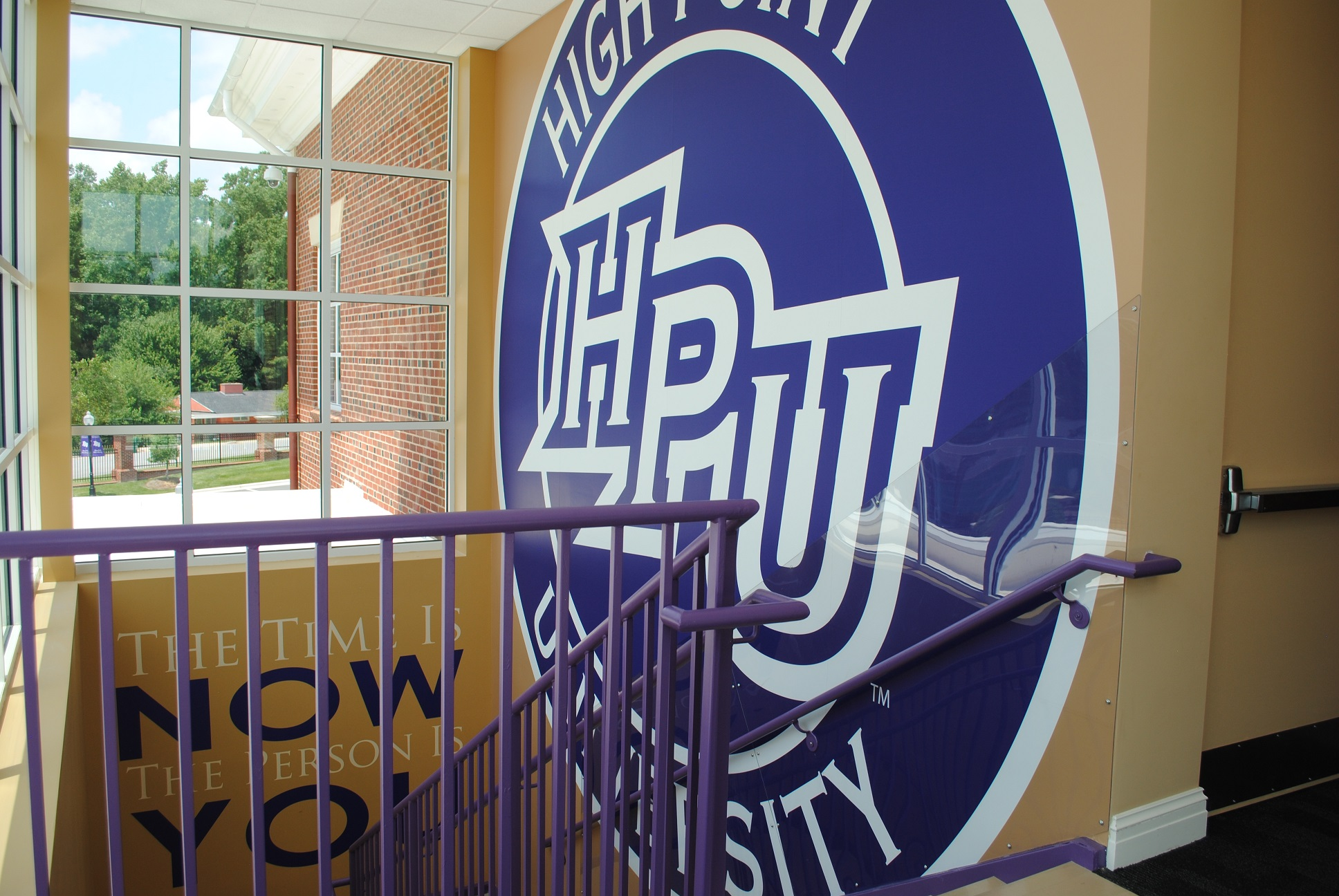 high point university logo gym interior graphic