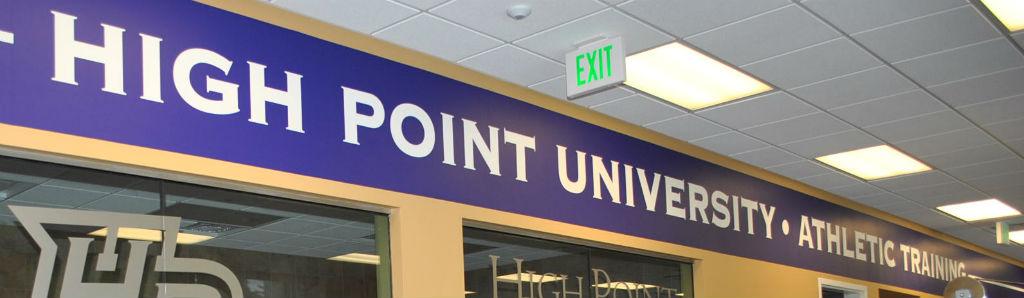 high point university gym interior signage