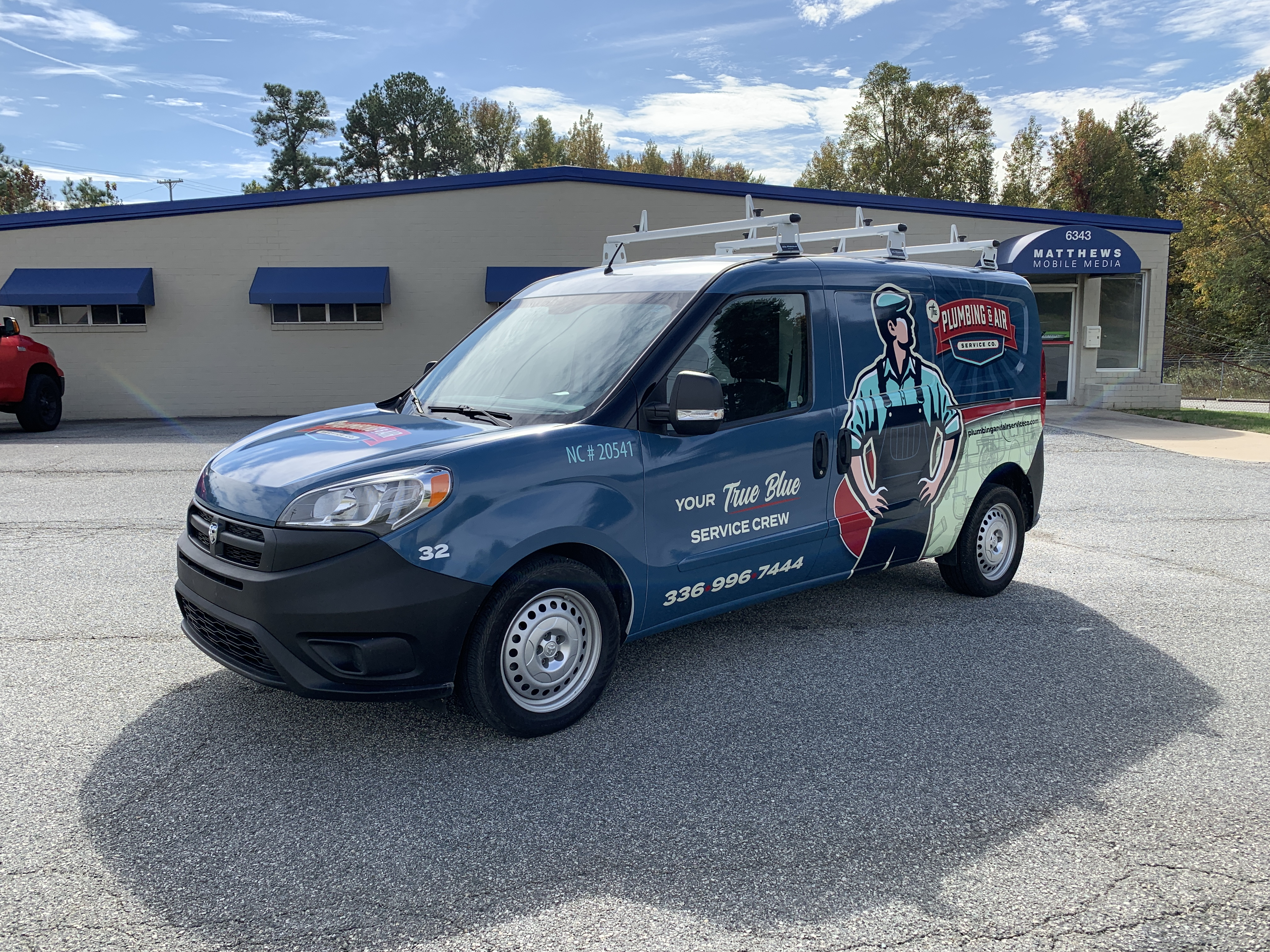 The Plumbing and Air Service Company van